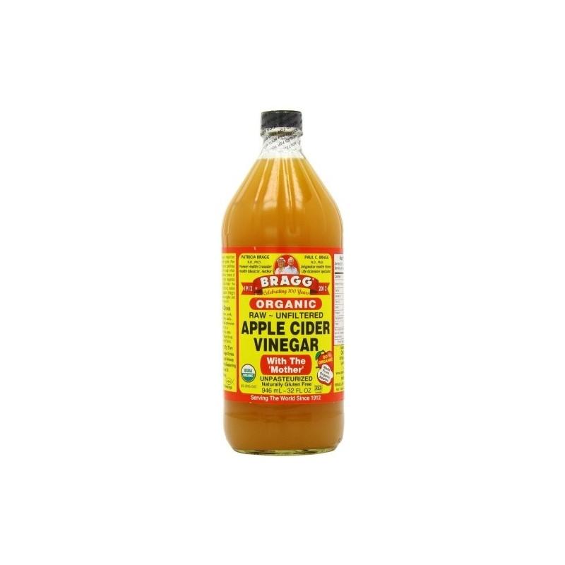 Vinaigre de Cidre Organic Bragg Non filtré Non pasteurisé 473 ml