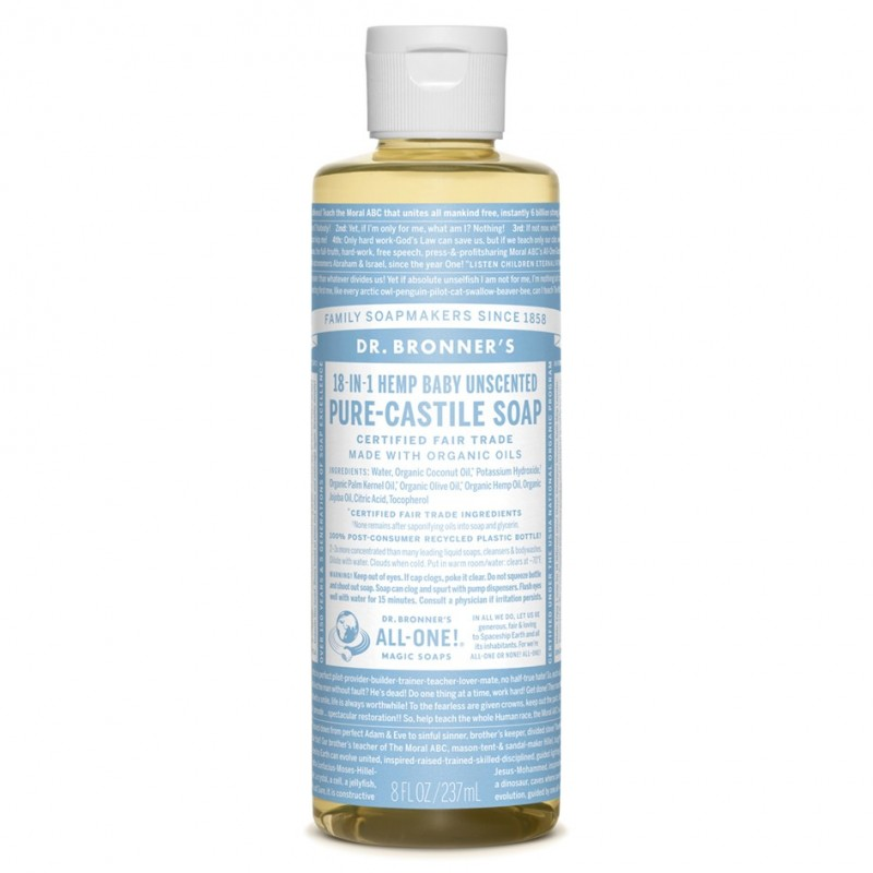 DR. BRONNER'S-Pure-Castile Liquid Soap - Baby Unscented 237ml