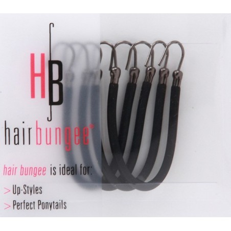 Hair Bungee Silicone - Session Master Noir