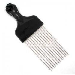 Peigne Afro Dents Metal Spécial Volume - LONG
