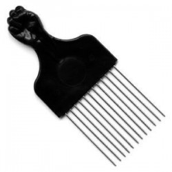 Peigne Afro Dents Metal Spécial Volume - COURT - Poing
