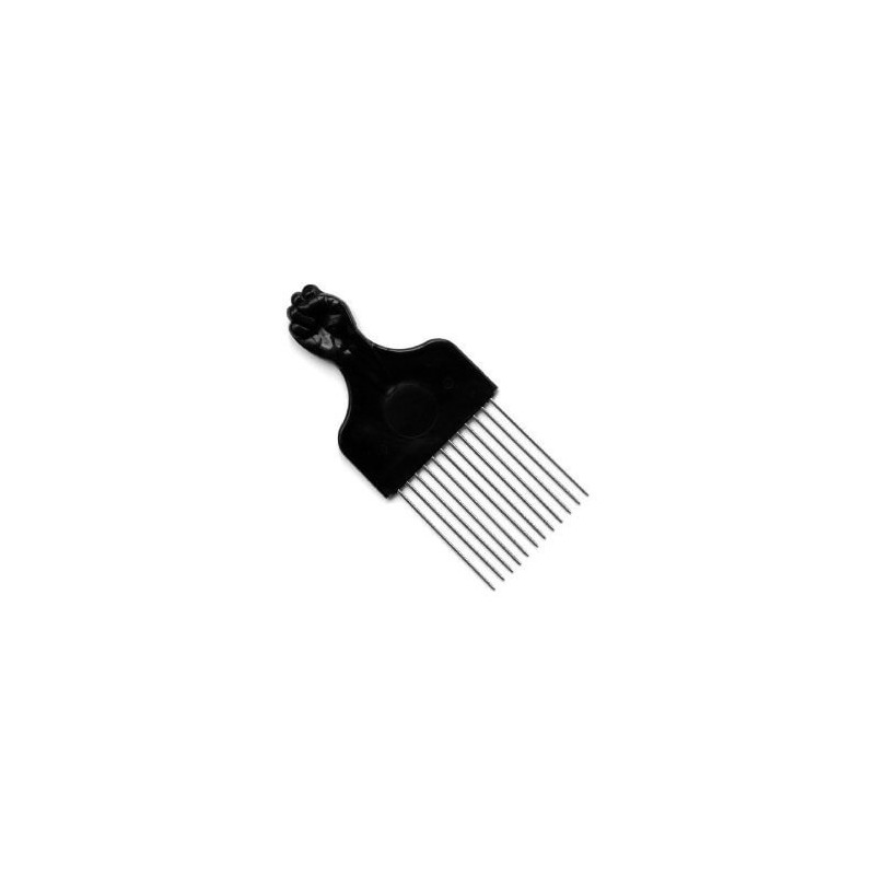 Peigne Afro Dents Metal Spécial Volume - COURT - Poing