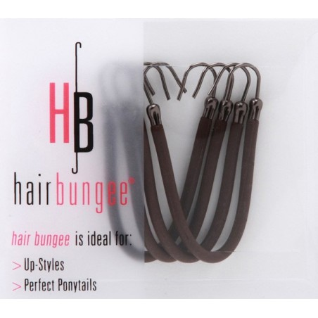 Hair Bungee Silicone - Session Master - Marron