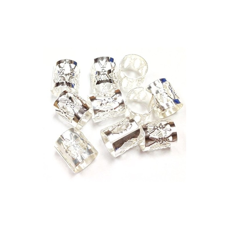 Tube Filgree - Perle pour nattes et locks -Argenté