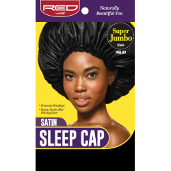 Satin Sleep Cap - Super Jumbo - Black