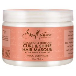 Coconut Hibiscus Curl and shine Masque Hydratant Brillance