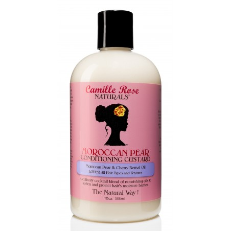 Camille Rose Naturals - Après-Shampoing activateur de Boucles - Moroccan Pear Conditioning Custard