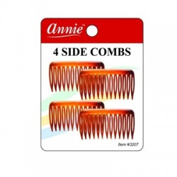 4 side Combs small - Amber