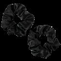 Only Curls - 2 Chouchous en Soie - Larges - Noirs