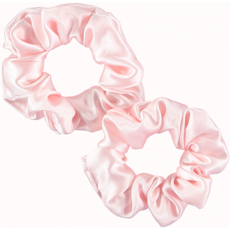 Only Curls - 2 Chouchous en Soie - Larges - Rose