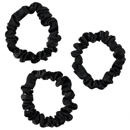 Only Curls - 3 Chouchous en Soie - Minis - Noirs