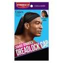Spandex Dreadlock Cap, Black