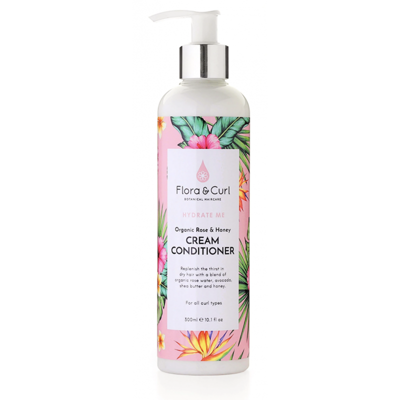 Rose & Honey Cream Conditioner - Flora & Curl - 300ml