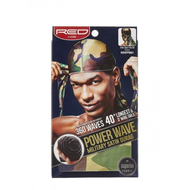 Durag - Power Wave - Military Satin - 360° Waves