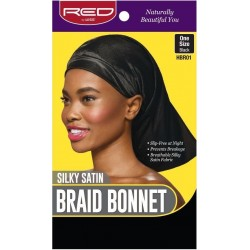Braid Bonnet - Satin - Black