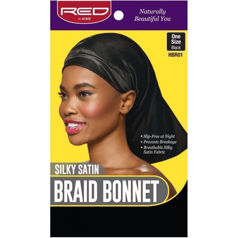 Braid Bonnet - Satin - Black