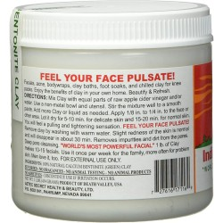 Pure Bentonite - Aztec Secret Healing Clay - 1lb