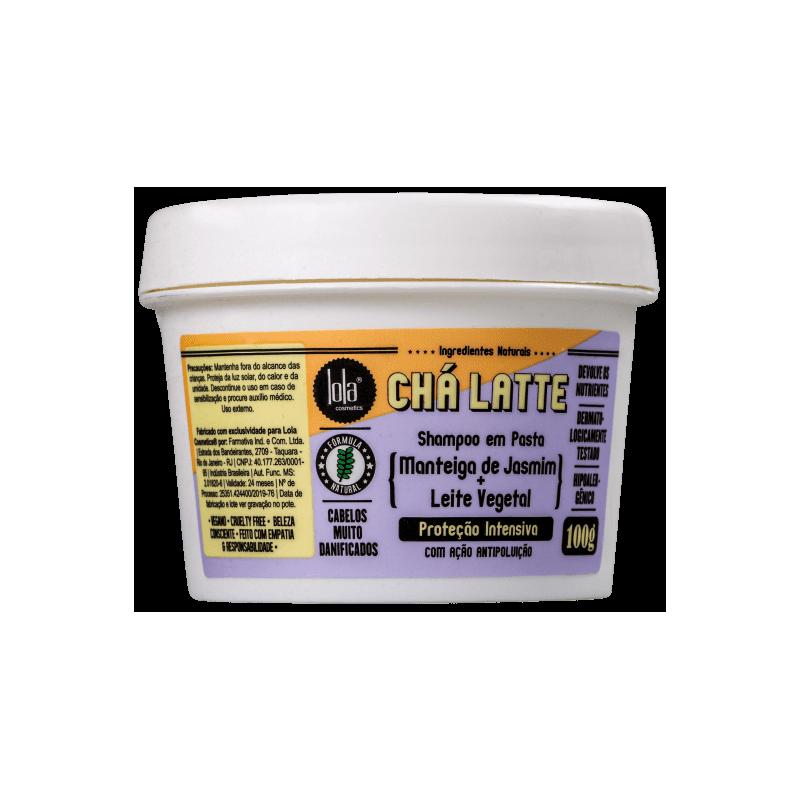 Cha Latte - Shampoing en Pâte au jasmin et lait végétal - Renforce et Protège