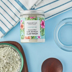 Curl Refresh Mint Clay Wash Mask Flora & Curl