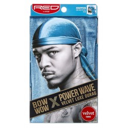 Durag Power Waves - Velours Luxueux - Bow Wow - Bleu