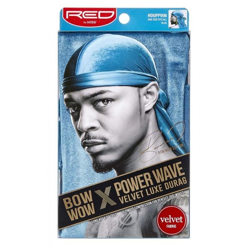 Power Wave Durag Bow Wow - Velvet - Blue