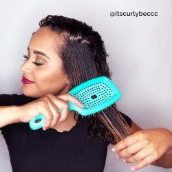 Flexy brush - Curly Hair Solution - Curl Clumping Brush - Purple