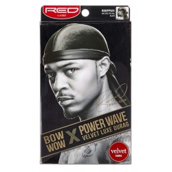 Durag Power Waves - Velours Luxueux - Bow Wow - Noir