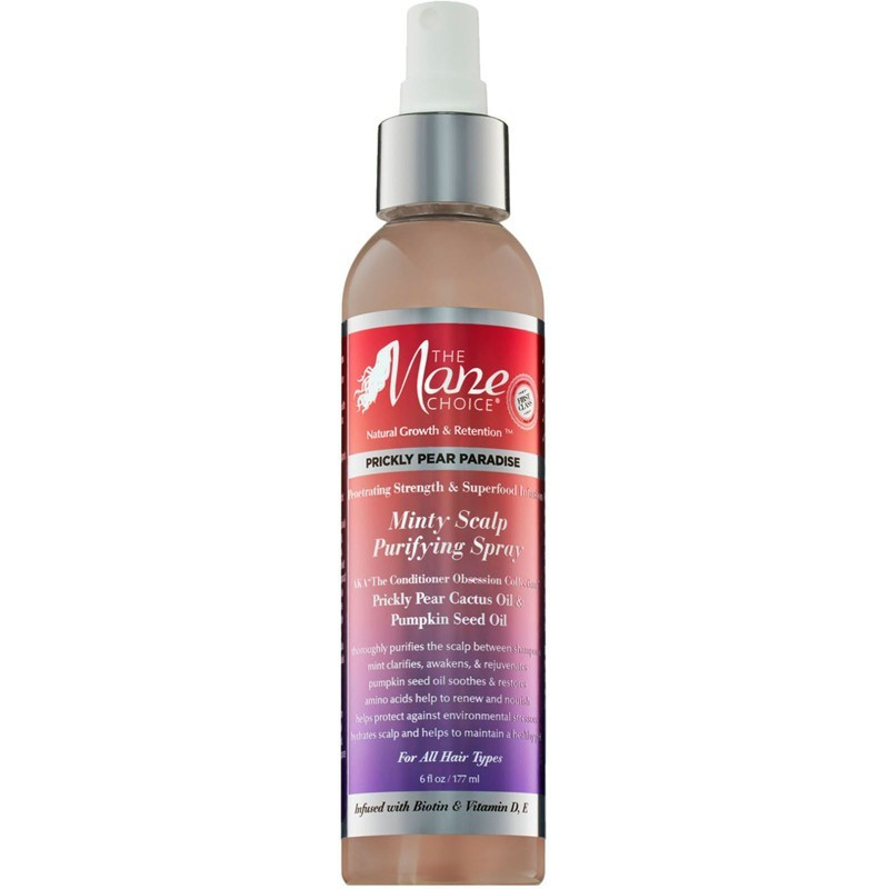 Prickly Pear Paradise Spray Purifiant Cuir Chevelu - Minty Scalp Purifying Spray - The Mane choice