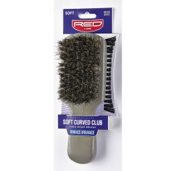 Soft Curved Club Boar Bristle Brush
