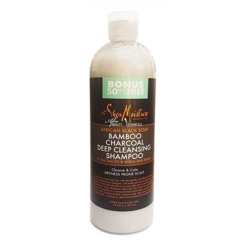 African Black Soap Bamboo Charcoal Deep Cleansing shampoo - Deluxe 19,5 fl oz