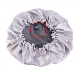 Ajustable Satin Lined Bonnet - Double Layer - AFRO KURLY - Black/Grey