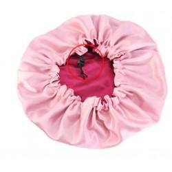 Bonnet en satin Reversible et réglable - Doublé - AFRO KURLY - Burgundy / Rose