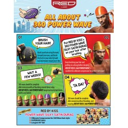 Durag - Power Wave 360° - Black Satin