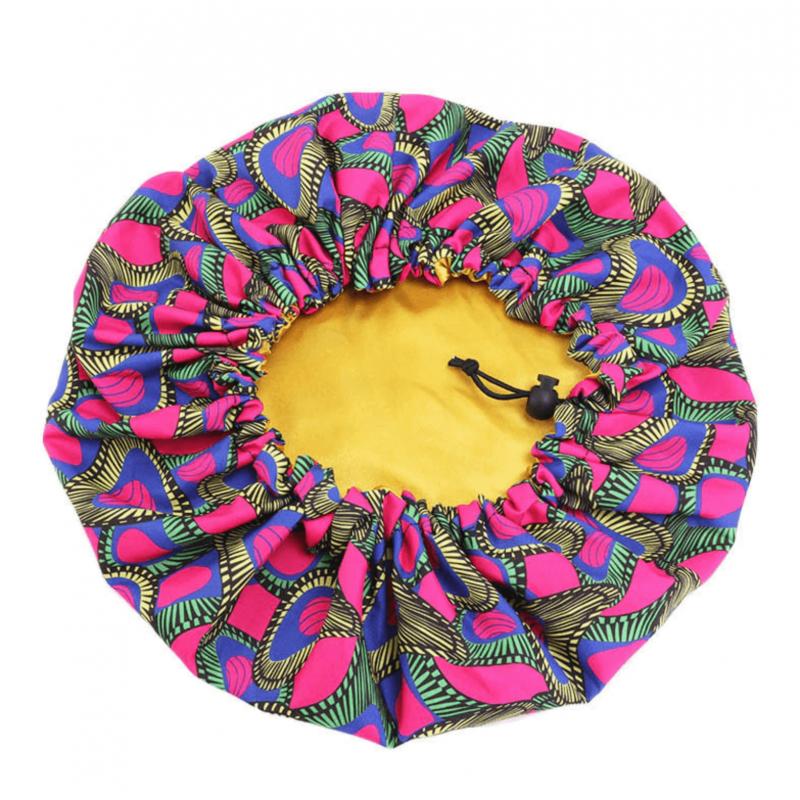 Bonnet en Satin Extérieur Wax Réglable - AFRO KURLY - Pinkberry