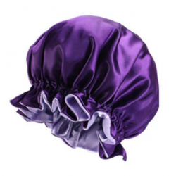 Ajustable Satin Lined Bonnet - Double Layer - AFRO KURLY - Purple