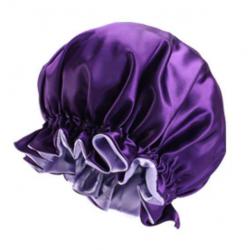Bonnet en Satin Reversible et Réglable - Doublé - AFRO KURLY - Violet