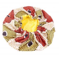 Jumbo Satin Lined Bonnet - AFRO KURLY - XL - Sunny