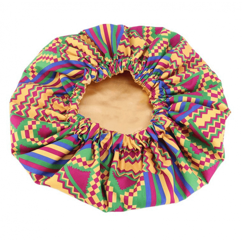 Jumbo Satin Lined Bonnet - AFRO KURLY - XL - Melanin