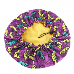 Ajustable Satin Lined Bonnet - AFRO KURLY - Purple Bliss