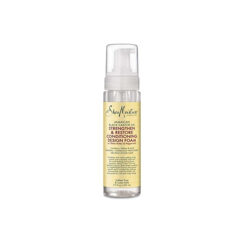 Strengthen and Restore Conditioning Design Foam - Shea Moisture - Jamaican Black Castor Oil