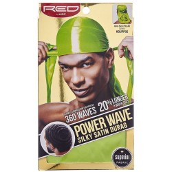 Durag - Power Wave - Green Satin - 360° Waves
