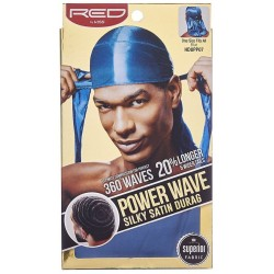Durag - Power Wave - Deep Blue Satin - 360° Waves