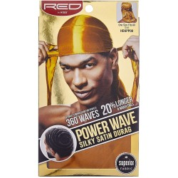 Durag - Power Wave - Gold Satin - 360° Waves
