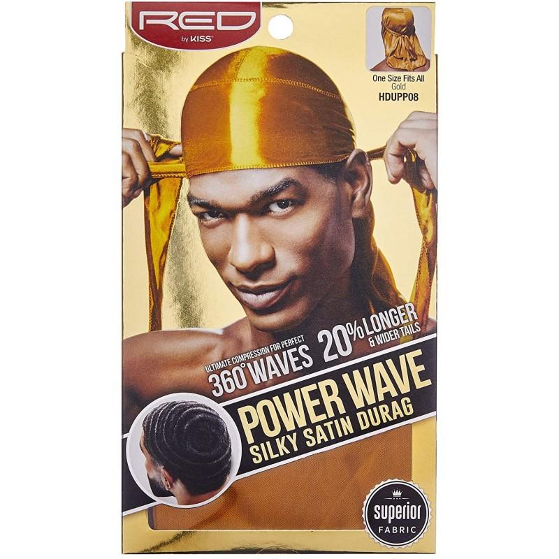 Durag - Power Wave - Gold Satin - 360° Waves