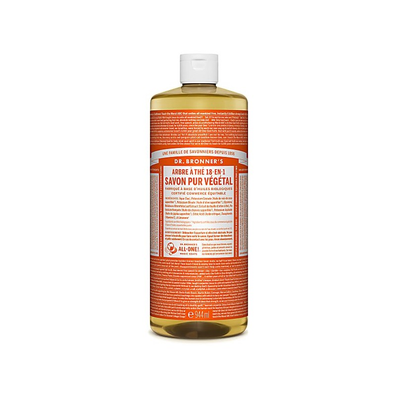 DR. BRONNER'S- Pure Castille Soap -Tea Tree - 944 ml