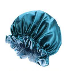 Bonnet en Satin Reversible et Réglable - Doublé - AFRO KURLY - Teal / Vert Clair