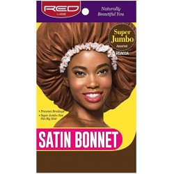 Satin Sleep Cap - Super Jumbo - White Fringe Random Color