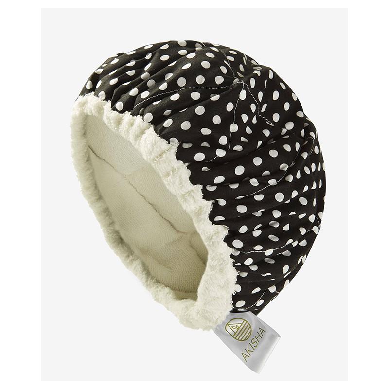 Bonnet Chauffant aux Graines de Lin - LineSpa - Dotty White