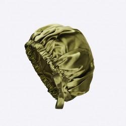 Silky night green -100% Pure Silk Bonnet - Akisha