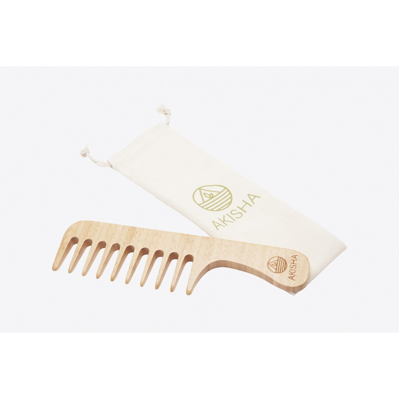 Bamboo comb - Large Teeths - The Curly
